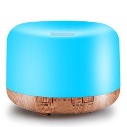 500ML Essential Oil Diffuser Humidifiers Ultrasonic Aromatherapy Diffusers Cool Mist Whisper-Qui ...