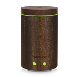InnoGear Real Wood Essential Oil Diffuser Ultrasonic Aromatherapy Diffusers with 7 LED Colorful  ...