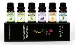 Best Essential Oils Gift Set by PureScents, 100% Pure, Six 10ml (0.34 fl oz) Aromatherapy Oils.  ...