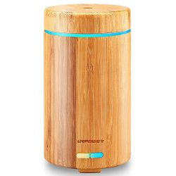 URPOWER Real Bamboo Essential Oil Diffuser Ultrasonic Aromotherapy Diffusers Cool Mist Aroma Dif ...