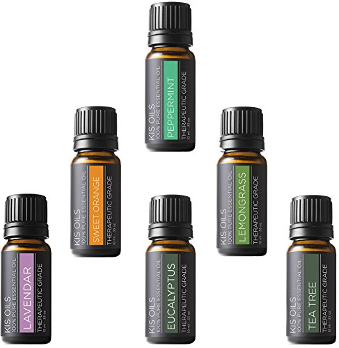 Aromatherapy Top 6 100% Pure Therapeutic Grade Basic Sampler Essential Oil Gift Basic sampler es ...