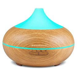 InnoGear 500ml Aromatherapy Essential Oil Diffuser Wood Grain Aroma Diffusers Cool Mist Humidmif ...