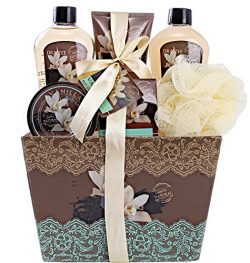 "Spa Basket for Women with Refreshing ""Seductive Vanilla"" Fragrance by Draizee – Luxury Bath & ..."