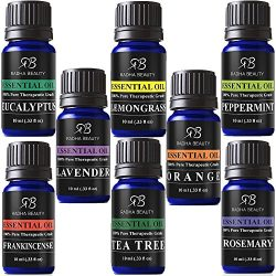 Radha Beauty Aromatherapy Top 8 Essential Oils 100% Pure & Therapeutic grade – Basic  ...