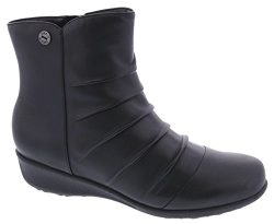 Drew Shoes Cologne Women's Therapeutic Diabetic Extra Depth Boot: Black 7.0 Wide (D) Zipper