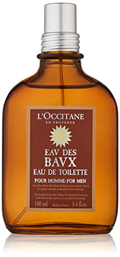 L'Occitane Woody Eau des Baux Eau de Toilette for Men, 3.4 fl. oz.