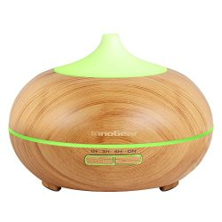 InnoGear 300ml Aromatherapy Essential Oil Diffuser Wood Grain Aroma Diffusers Cool Mist Humidmif ...