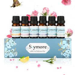 Skymore Top 6 Essential Oil Blend Gift Set, 100% Pure Aromatherapy Oils for Diffuser, Best Thera ...