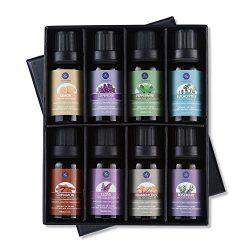 Top 8 Essential Oils Set,Nature Therapeutic Grade Aromatherapy Oils,Lavender,Eucalyptus,Cinnamon ...