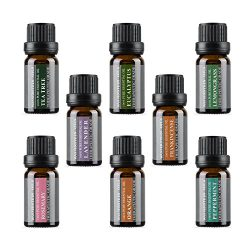 Aromatherapy Oils 100% Pure Therapeutic Grade Basic Essential Oil Gift Set by Wasserstein (Top 8 ...