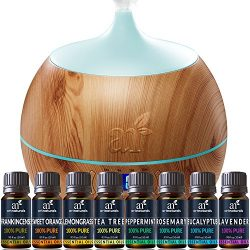 ArtNaturals Essential Oil and Bluetooth Diffuser Set – 400ml & Top 8 – Peppermin ...