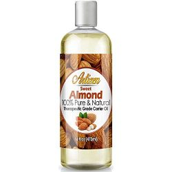 Artizen Sweet Almond Oil – 16oz (Ounce) Bottle (100% Pure & Natural) – Perfect C ...