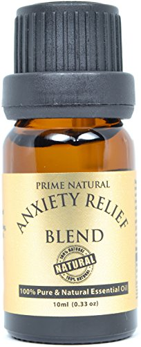 Anxiety Relief Essential Oil Blend 10ml – 100% Natural Pure Undiluted Therapeutic Grade fo ...