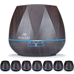 Miserwe Diffuser 550ML Adjustable Mist Aromatherapy Essential Oil Diffuser for Home Yoga Office  ...