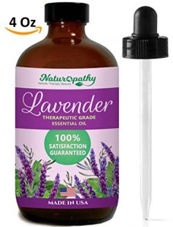 Naturopathy Lavender Essential Oil, Therapeutic Grade, Premium Quality Blend of Lavender Oil, 4  ...