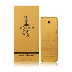 1 Million Absolutely Gold by Paco Rabanne Pure Perfume Spray 3.3 oz for Men