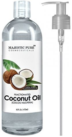 Majestic Pure Fractionated Coconut Oil, For Aromatherapy Relaxing Massage, Carrier Oil for Dilut ...
