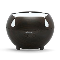 600ml Aromatherapy Diffuser, Paxamo Extra Large Diffuser Wood Grain Oil Humidifier, Premium Ther ...
