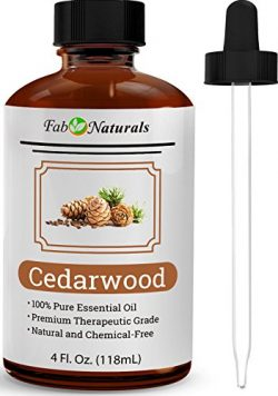 Cedarwood Essential Oil, 100% Pure, 4 Oz, Premium Texas Cedarwood oil for Diffuser, Aromatherapy ...