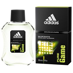 Adidas Eau de Toilette Spray for Men, Pure Game, 3.4 Fluid Ounce