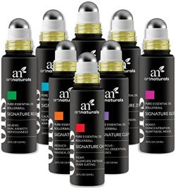 ArtNaturals Top 8 Aromatherapy Essential Oil Blend Roll On 10ml Set – Blends Assists with  ...