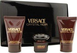 Versace Crystal Noir By Gianni Versace For Women. Set-eau De Parfum .17 OZ Mini & Body Lotio ...