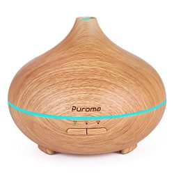Puroma 150ml Aromatherapy Essential Oil Diffuser Wood Grain Ultrasonic Diffusers Cool Mist Humid ...