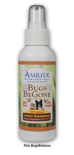 Amrita Bugs BeGone – Natural Insect Repellent Spray for Pets – Repels Mosquitoes, Fl ...