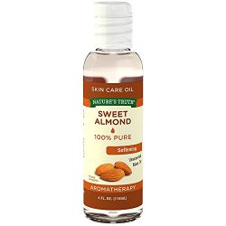 Nature's Truth Aromatherapy Pure Unscented Base Oil, Sweet Almond, 4 Fluid Ounce