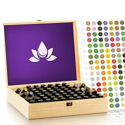 Essential Oil Wooden Box – Storage Case Holds 68 Bottles & Roller Bottles. Customizabl ...