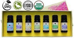 USDA Organic Essential Oils Set – Certified 100% Pure Aromatherapy Starter Kit – Wit ...