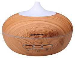 Auto-sensing Essential Oil Diffuser, Excelvan 300ML Aromatherapy Ultrasonic Aroma, Wood Grain Ad ...