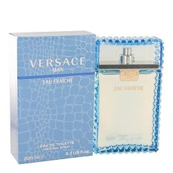 Versace Man by Versace – Eau Fraiche Eau De Toilette Spray (Blue) 6.7 oz