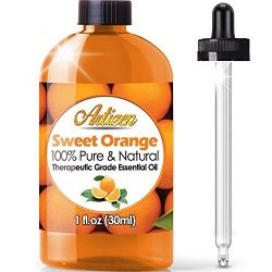 Artizen Sweet Orange Essential Oil (100% PURE& NATURAL – UNDILUTED) Therapeutic Grade  ...