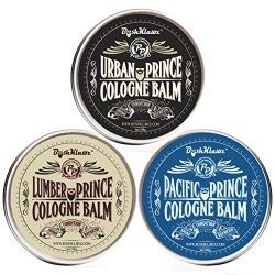 Prince Solid Cologne Balms Gift Set Fragrance by BushKlawz – Full Size 1 oz Tins of Each o ...