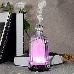 COSVII Electric Ultrasonic Glass Essential Oil Diffuser Perfume Bottle Design, 120ml Portable Sm ...