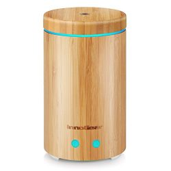 InnoGear Upgraded Real Bamboo Essential Oil Diffuser Ultrasonic Aroma Aromatherapy Diffusers Coo ...