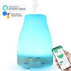 Essential Oil Diffuser WiFi Smart Humidifier Compatible with Alexa, Google Home and APP, RENPHO  ...