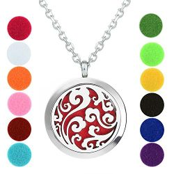 Aromatherapy Necklace – Ocean Waves – Essential Oil Diffuser Necklace – Aromat ...