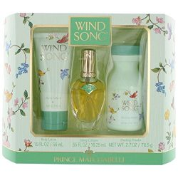 Wind Song by Prince Matchabelli for Women 3 Piece Set Includes: 0.55 oz Cologne Spray + 1.9 oz B ...