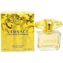 Versace Eau De Toilette Spray for Women, Yellow Diamond, 3 Ounce