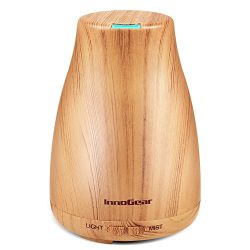 InnoGear Upgraded Wood Grain Aromatherapy Essential Oil Diffuser Portable Ultrasonic Diffusers C ...