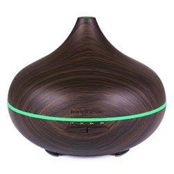 InnoGear 500ml Aromatherapy Essential Oil Diffuser Wood Grain Aroma Diffusers Cool Mist Humidifi ...
