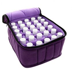 FLYMEI 30-Bottle Essential Oil Carrying Case – Oil Cases for Essential Oils – Portab ...