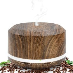 Essential Oil Diffuser 450ml, Wood Grain Aromatherapy Diffusers and Air Humidifiers Set for Larg ...