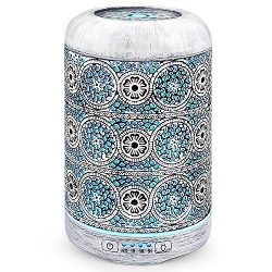 Vintage Essential Oil Diffuser, SALKING 260ml Retro Metal Aromatherapy Diffusers for Essential O ...