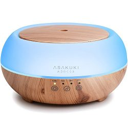 ASAKUKI Premium Touch Sensitive, Essential Oil Diffuser, 300ML-5 In 1 Ultrasonic Aromatherapy Fr ...