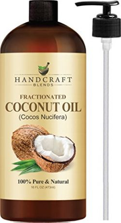 Fractionated Coconut Oil – 100% Pure & Natural Premium Therapeutic Grade – Huge 16 OZ – ...