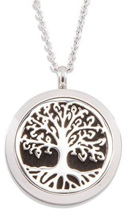Plant Therapy Tree of Life Aromatherapy Diffuser Locket (Silver)