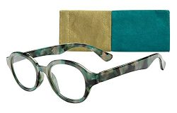 Cologne Women's Fashion Oval Reading Glasses by ICU (1.50, Teal Multi)